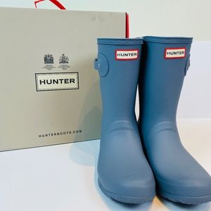 Anthropologie Hunter Original Short Rainboots Gray